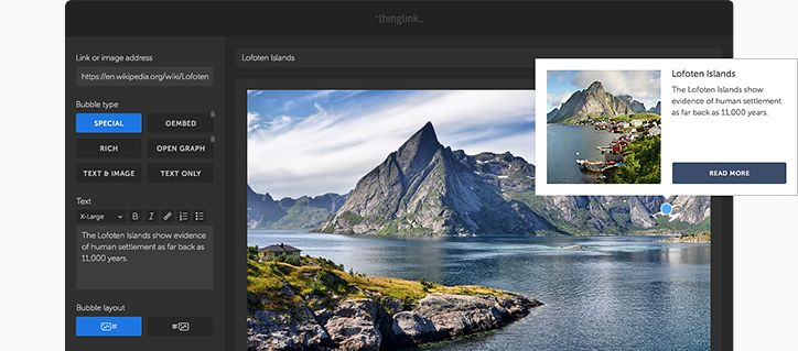 Engage students with interactive images and videos — thinglink