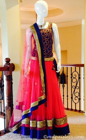 What To Wear To A #Sangeet! | Red Paisleys #lengha