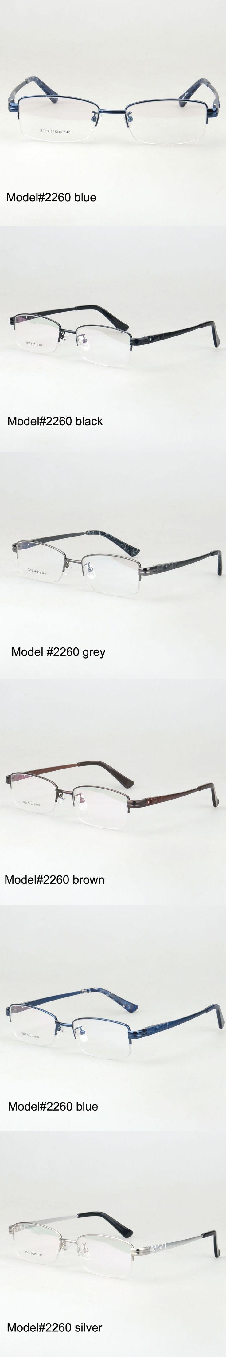 MY DOLI 2260 factory price half rim high quality alloy temple eyewear glasses spectacles myopia optical frame eyewear eyeglasses