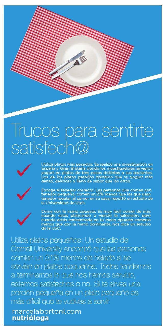 Trucos Para Sentirte Satisfech Con Imagenes Promocion De La Salud Salud Salud Y Nutricion