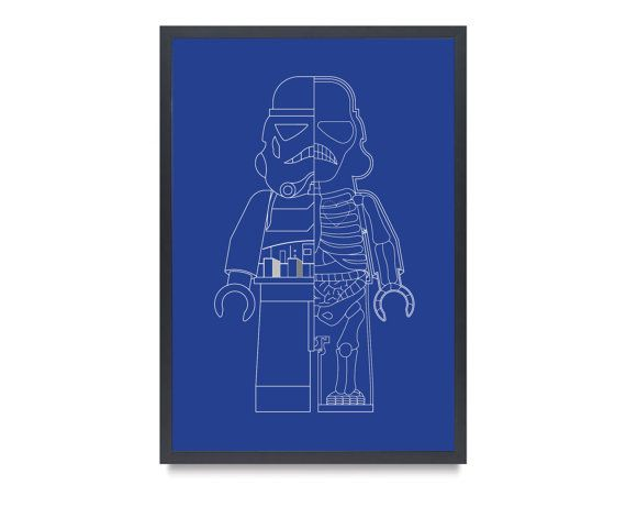Space Trooper Inspired XRay Art Print Typical by BARDARON on Etsy, $29.00