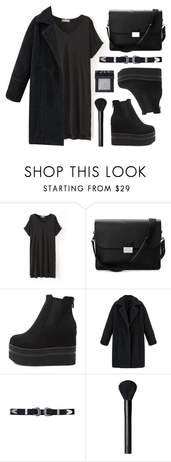 """""""Lady in Blk"""" by baludna ❤ liked on Polyvore featuring WithChic, Aspinal of London and NARS Cosmetics"""