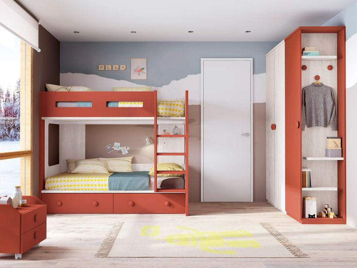 Lit superposé design et moderne - GLICERIO - SONUIT #roomdecor #décoration #interiordesign #chambreenfant #design #chambre #room #moderne