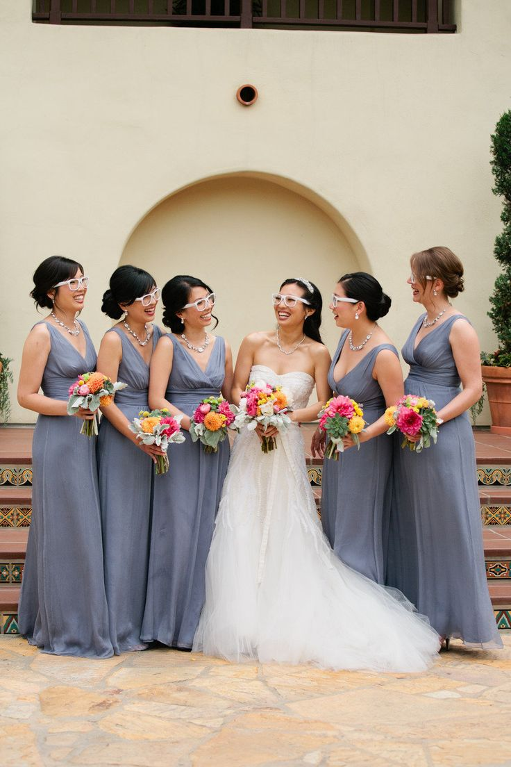 197 best bridesmaid dresses images on pinterest wedding a dad and daughter wheeled down the aisle side by side charcoal dressgray weddingswedding ombrellifo Image collections