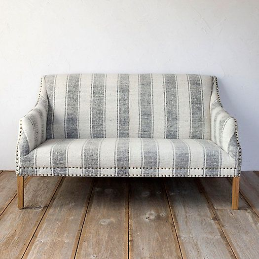Wide Stripe Settee