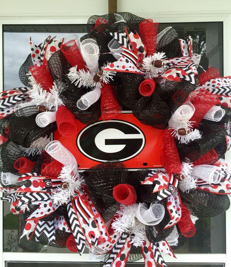 Georgia Bulldogs mesh wreath