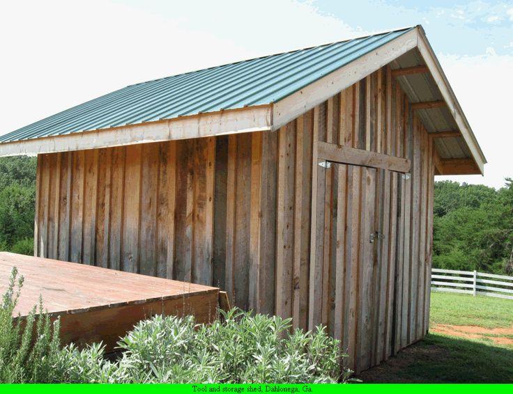 Tool and equipment shed dahlonega ga workshops garage for Shed roof garage