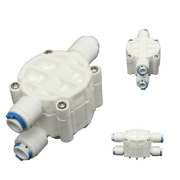 High quality 4 Way 1/4 Port Auto Shut Off Valve For RO Reverse Osmosis Water Filter System