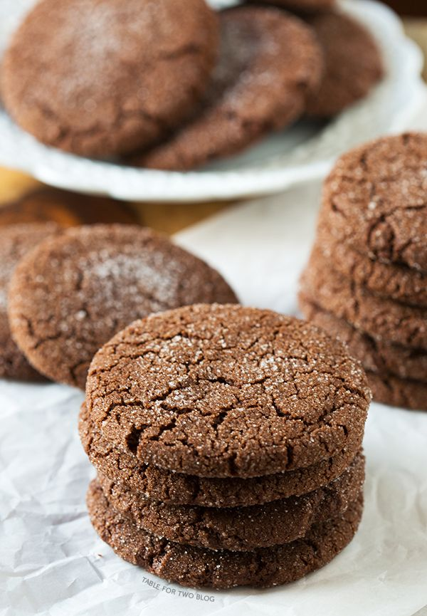 Chocolate Sugar Cookies - these are fantastic!  Chewy and chocolatey ... the PERFECT chocolate cookie for ICE CREAM SANDWICHES, which is what I'll be doing with the next batch I make :)