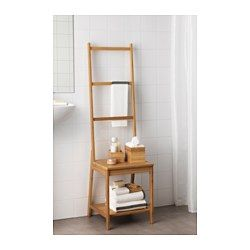 IKEA - RÅGRUND, Chair with towel rack, , Helps to save room because you get both a chair and a towel rack in the same space.Bamboo is a hardwearing natural material.