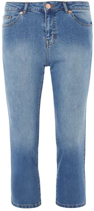 Petite Cropped Kick Flare Jeans