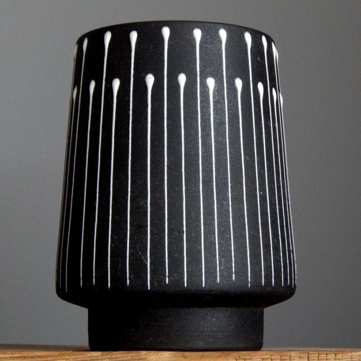 Vintage 50 s RUSCHA GRAPHIS Vase KURT TSCHORNER West German Pottery Fat Lava Era