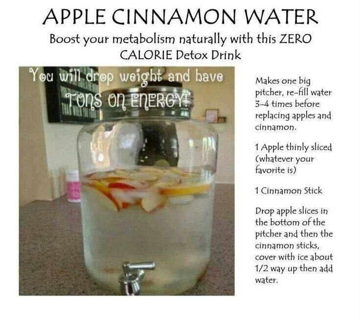 Apple Cinnamon Detox Water Detox Pinterest Detox