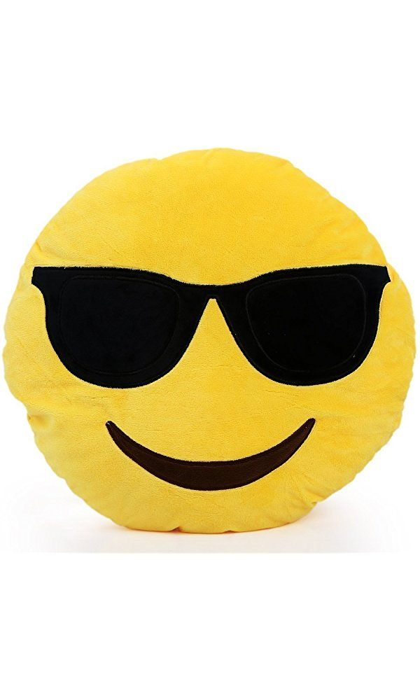 YIWA 1 X Round Oi Emoji Smiley Emoticon Cushion Pillow Stuffed Plush Toy Doll Yellow(very Cool+free Valentine's Day Gifts) 32cm, Sunglasses Best Price