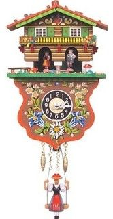 Boy and Girl Weather House Cuckoo Clock - eclectic - clocks - by Walmart
