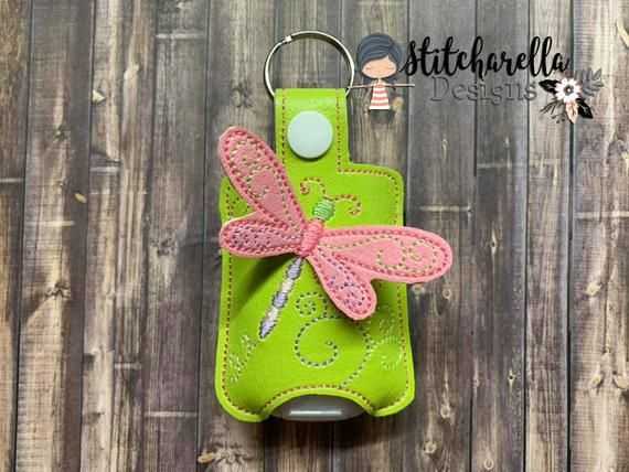 3d Dragonfly Hand Sanitizer Holder Pocketbac Holder Hand