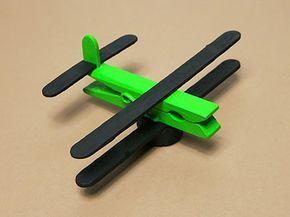 DIY Flugzeug aus Holz
