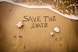Save the date idea. Good, if they decide to do the wedding in Surfside Beach, Tx