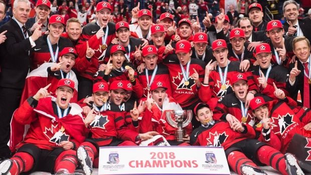 Jan.05 2018 - Canada scores late to beat Sweden and capture World Juniors gold Team Canada wins 2018 World Juniors gold A late third-period goal from unlikely hero Tyler Steenbergen gives Canada its first World Juniors Championship gold-medal victory in three years with 3-1 win over Sweden, TSN Senior Hockey Reporter Frank Seravalli writes from Buffalo.Team Canada wins 2018 World Juniors gold, The Canadian Press