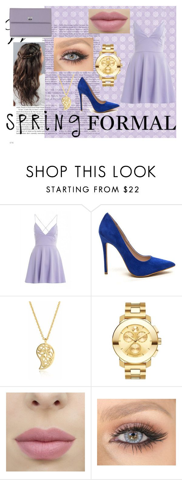 """""""Spring Formal"""" by lilyrose2000 on Polyvore featuring AX Paris, Sonal Bhaskaran, Movado and Pineider"""