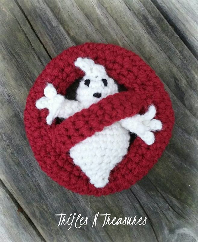 I Ain't Fraid-a No Ghost ~ free crochet pattern at Trifles N Treasures. Ghostbusters.