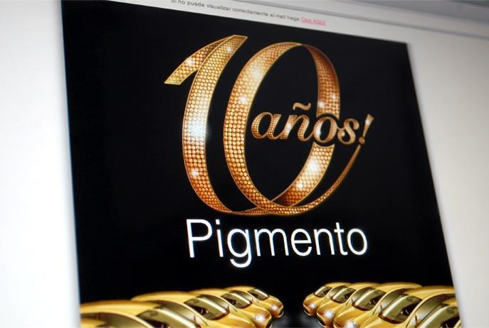 Pigmento / 10 años / Branding