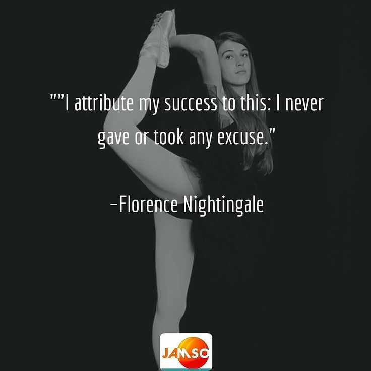 """""I attribute my success to this: I never gave or took any excuse.""  Florence Nightingale"