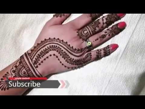 Easy Arabic Mehndi Design-Gd Mehndi Designs tutorial2017 For Hand