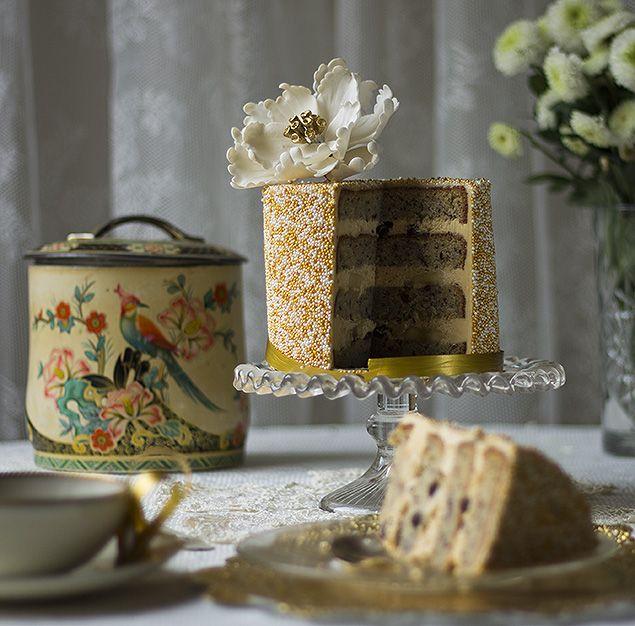 bakministeriet: Nyårstårta: Sprinkle cake