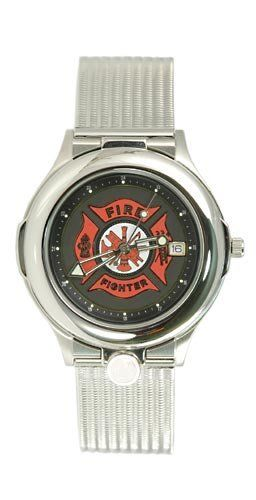 Portrait Watch Firefighter's Watch, Silver Stainless, for Men - 596PG65176