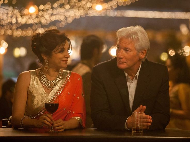 "Lillete Dubey as ""Mrs. Kapoor"" and Richard Gere as ""Guy"" in THE SECOND BEST EXOTIC MARIGOLD HOTEL."