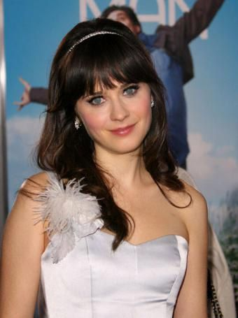 Zooey Deschanel Long Hairstyle with Bangs