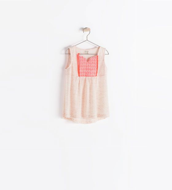 Afbeelding 1 van WIJDE BLOUSE MET ETNISCHE PRINT van Zara