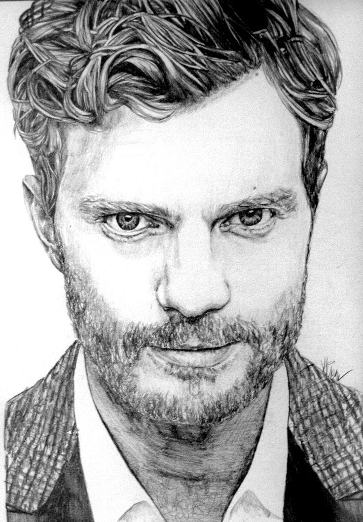 jamie dornan drawing pencil pinterest grey jamie