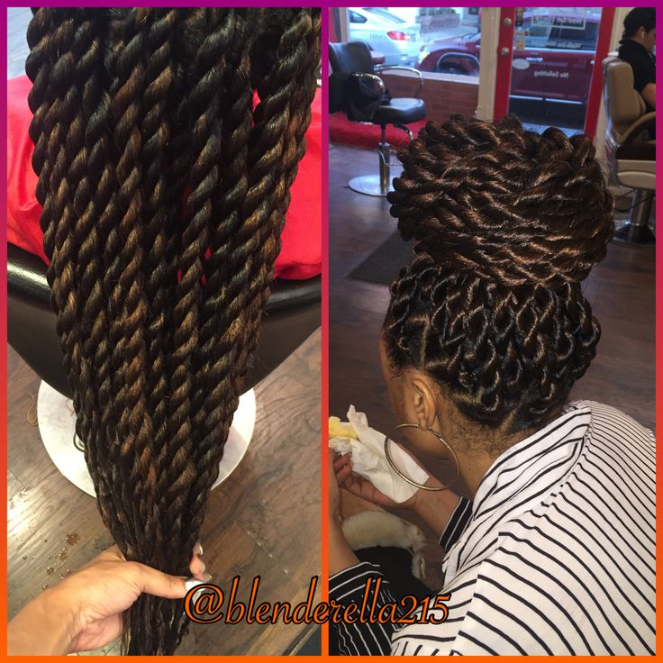 Jumbo rope twists are a great protective style! Done in less than 3 hrs and it will give u a beautiful bun! Done by Kryssy at Mckinzie Chic Hair Studio 508 S 5th St Philadelphia, Pa. 19147 Book an appt @ www.styleseat.com/kryssyhair This style is just $100!