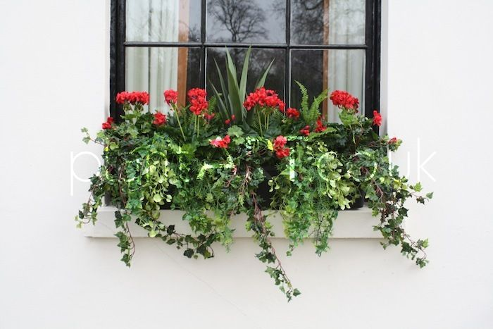images of artificial flowers in window boxes | outdoor artificial plants goodenough club london colourful exterior ...