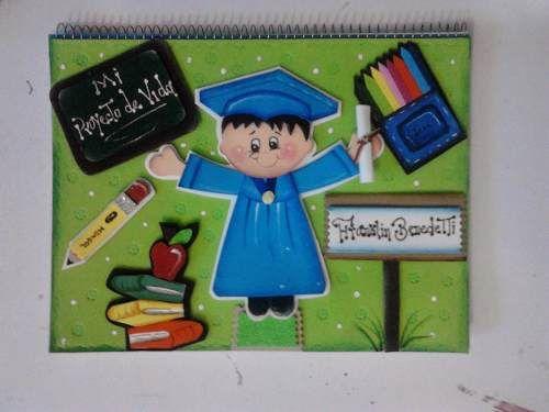Carpetas De Foami De Graduandos Niños Y Niñas Escuela
