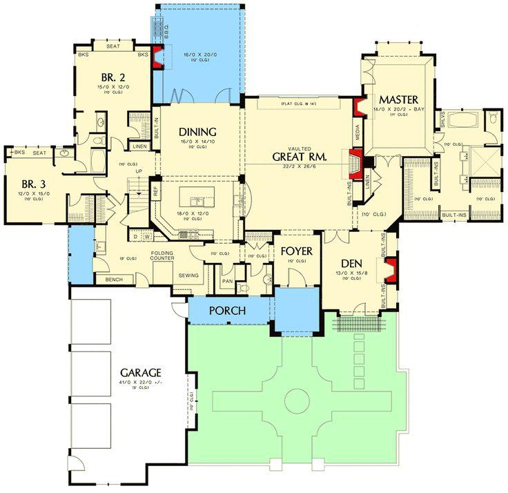 2869 Best Floor Plans Images On Pinterest Architectural