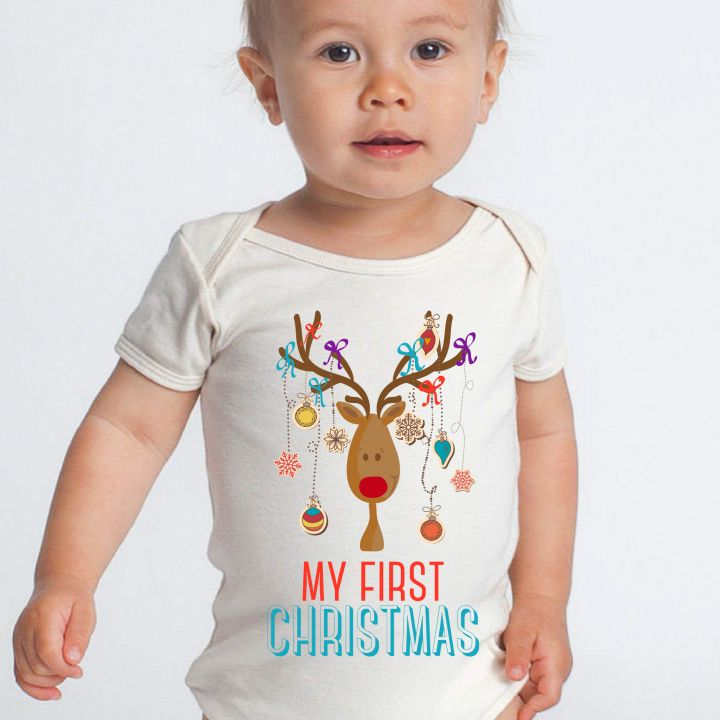 """""""My First Christmas"""" onesies now online!  $24.95"""
