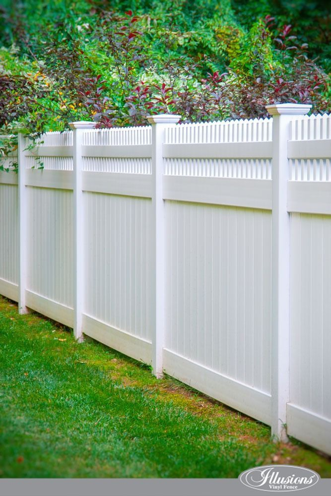 A Close Up Of A White Fence Stunning Pvc Vinyl Privacy Fence From