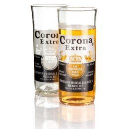 Recycled Corona Glasses - Set of 2