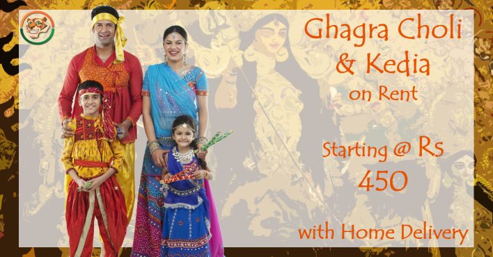 Dandiya Dresses on Rent for the entire family. For Bangalore:http://bit.ly/2dcf08V For Delhi: http://bit.ly/2dvpG73