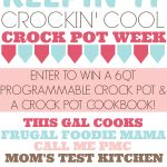 Summer Crock Pot Recipes & A Giveaway! Here you will find a collection of #crockpot recipes as well as a giveaway to win a 6qt programmable crock pot!