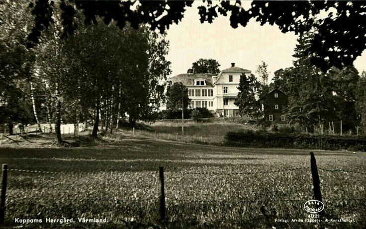 Värmland Eda kommun Järnskog Koppoms Herrgård utg Arvika Pappers och Konsthandel 1950-tal