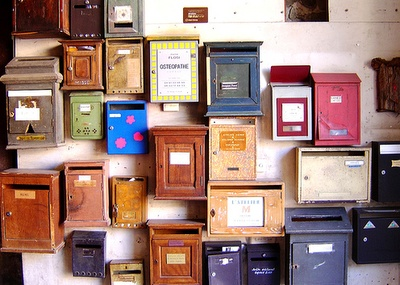 old mailboxes as home decor