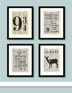 Harry Potter Decor- what a great way to add some magic to your home! Although I don't think I could write on an HP