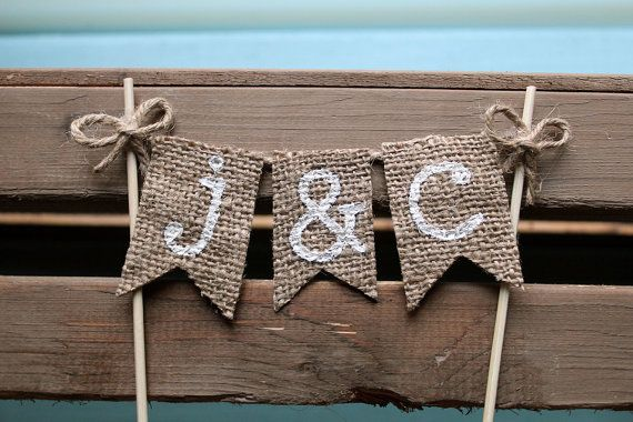 Personalized Cake Topper Rustic Country by TheCraftandCupboard