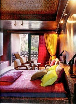 Moroccan Bedroom colors