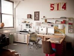 office/studio: Studios Spaces, Offices Design, Offices Spaces, Work Spaces, Jessica Hische, Workspaces, Desks, Home Offices, Design Offices