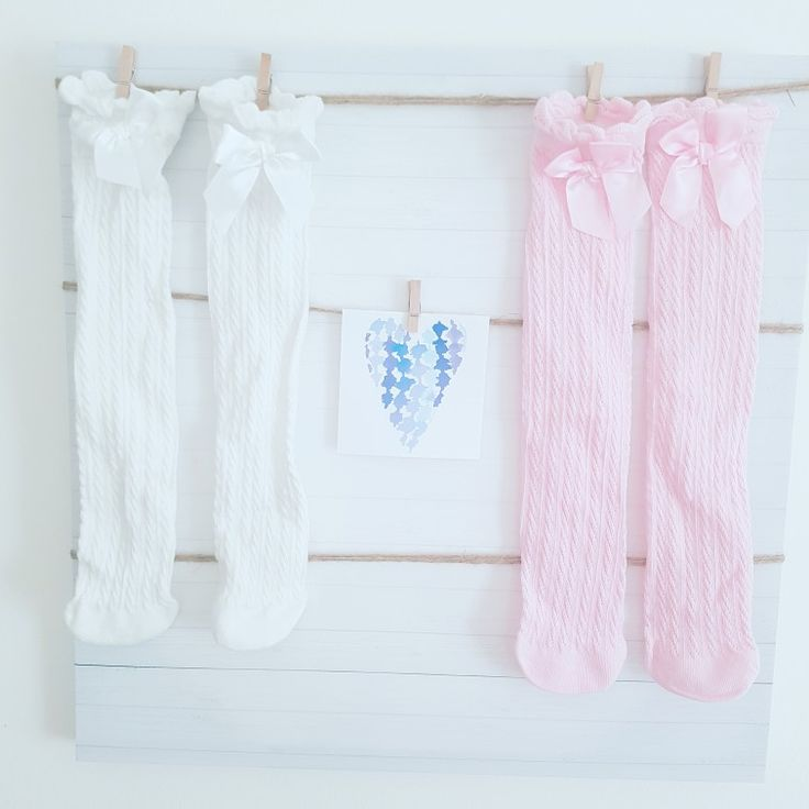 Thigh high satin ribbon socks for ages 2-4 visit our instagram @pigeon_pair_collection